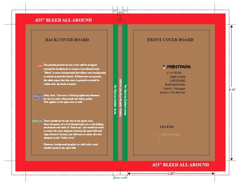 Word Book Template 6x9 Book Cover Template